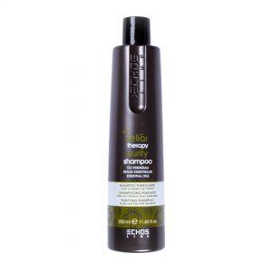Echos Line shampoo purificador para cuero cabelludo y cabellos con caspa