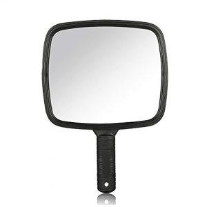 Espejo de mano rectangular